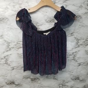 Urban Outfitters Womens Crop Top Sz S New Sparkly
